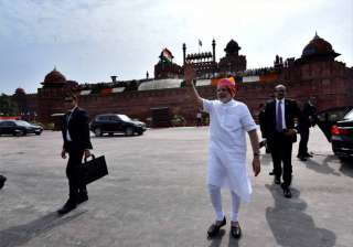 PM Narendra Modi at Red Fort, on the occasion of 70th Independence Day, in Delhi on August 15, 2016.