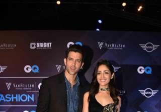 Hrithik and Yami, who will be sharing the screen space in their upcoming movie 'Kaabil', made a perfect pair at the fashion nights.