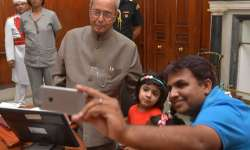 President launches mobile app 'Selfie with Daughter'
