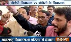 High drama in Maha Assembly as BJP and AIMIM leaders clash- India Tv