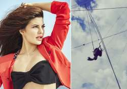 Jacqueline Fernandez performs air stunts like a pro for