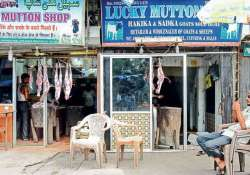 Protesting crackdown on animal slaughter, Lucknow meat