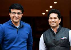 Sachin Tendulkar and Sourav Ganguly shares a light moment