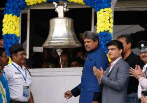 Kapil Dev rings a Lords like bell, installed at the Eden- India Tv