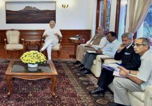 Prime Minister Narendra Modi at a meeting to review Indus- India Tv