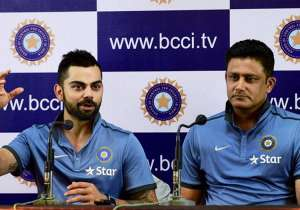 A file image of Virat Kohli and Anil Kumble.- India Tv