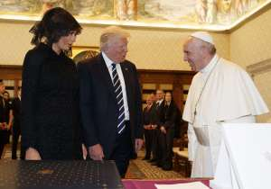 Donald Trump and First lady Melania meet Pope Francis at- India Tv
