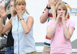 working with aniston leaves emma roberts gushing