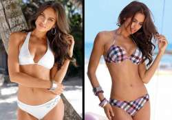 ronaldo s model girlfriend in swimwear shoot