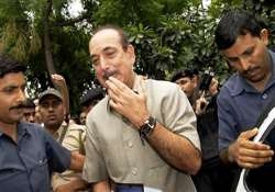 ghulam nabi azad escapes after plane s tyre bursts