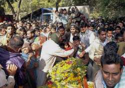 martyr crpf jawan cremated with state honours in mp