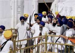 sgpc sends volunteers to fortify sikh shrines in haryana