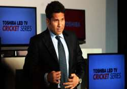 sachin wears an electronic designer s hat with toshiba