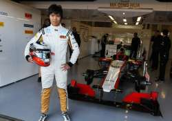 first chinese born driver tests in formula one