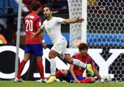 fifa world cup algeria beat south korea 4 2 in group h