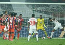 delhi dynamos jump to second after 3 1 win over pune city fc