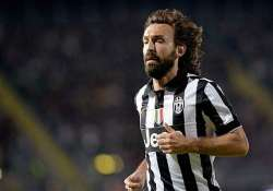 juventus midfielder pirlo out with injured thigh