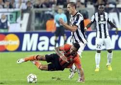 juventus held to 1 1 draw by shakhtar donetsk