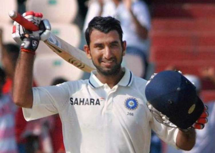 pujara hits his maiden double ton yuvraj out for 74- India Tv