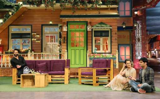 After promoting their film 'Rangoon' on 'Koffee With Karan', Shahid and Kangana headed to the sets of 'The Kapil Sharma Show'