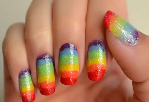 Paint your nails with creativity 6 eye catchy nail arts rainbow nail art this nail art is one of the funkiest nail art which prinsesfo Image collections