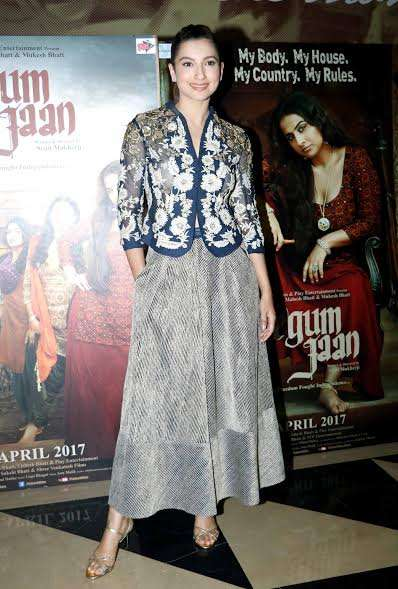 Gauhar Khan made a stylish entry in an Indo-western attire that looked absolutely gorgeous on the lady.