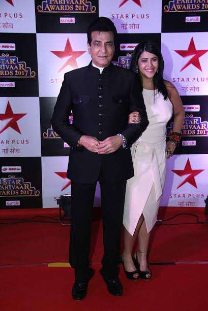 Veteran actor Jeetendra and his daughter Ekta Kapoor was also spotted at the event. Jeetendra was looking handsome in black and Ekta looked elegant in white outfit.