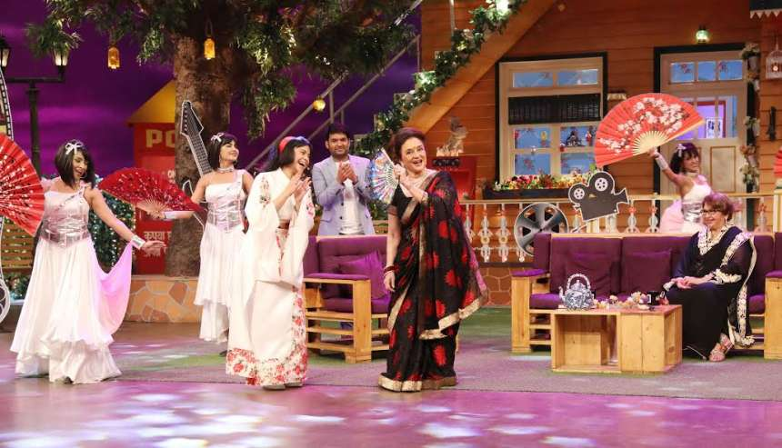 The entire cast of Kapil's show were seen having fun all the way.