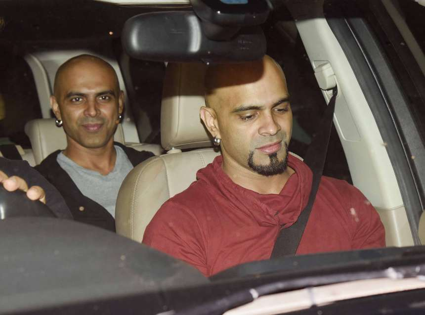 Actors Raghu Ram and Rajiv Laxman also graced the screening of the movie Bank Chor at Yash Raj Studio.
