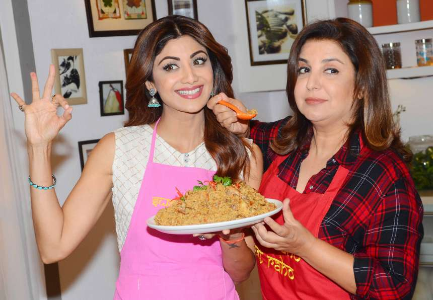 Shilpa was also seen shooting with Farah Khan an Eid special episode for her wellness channel at Sanjeev Kapoor office.