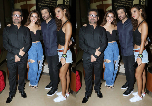 Popularly known as Mr. India of Bollywood Anil Kapoor, who will be seen cheering the audience with his jokes in Mubarakan attended the screening of the film in a casual attire.