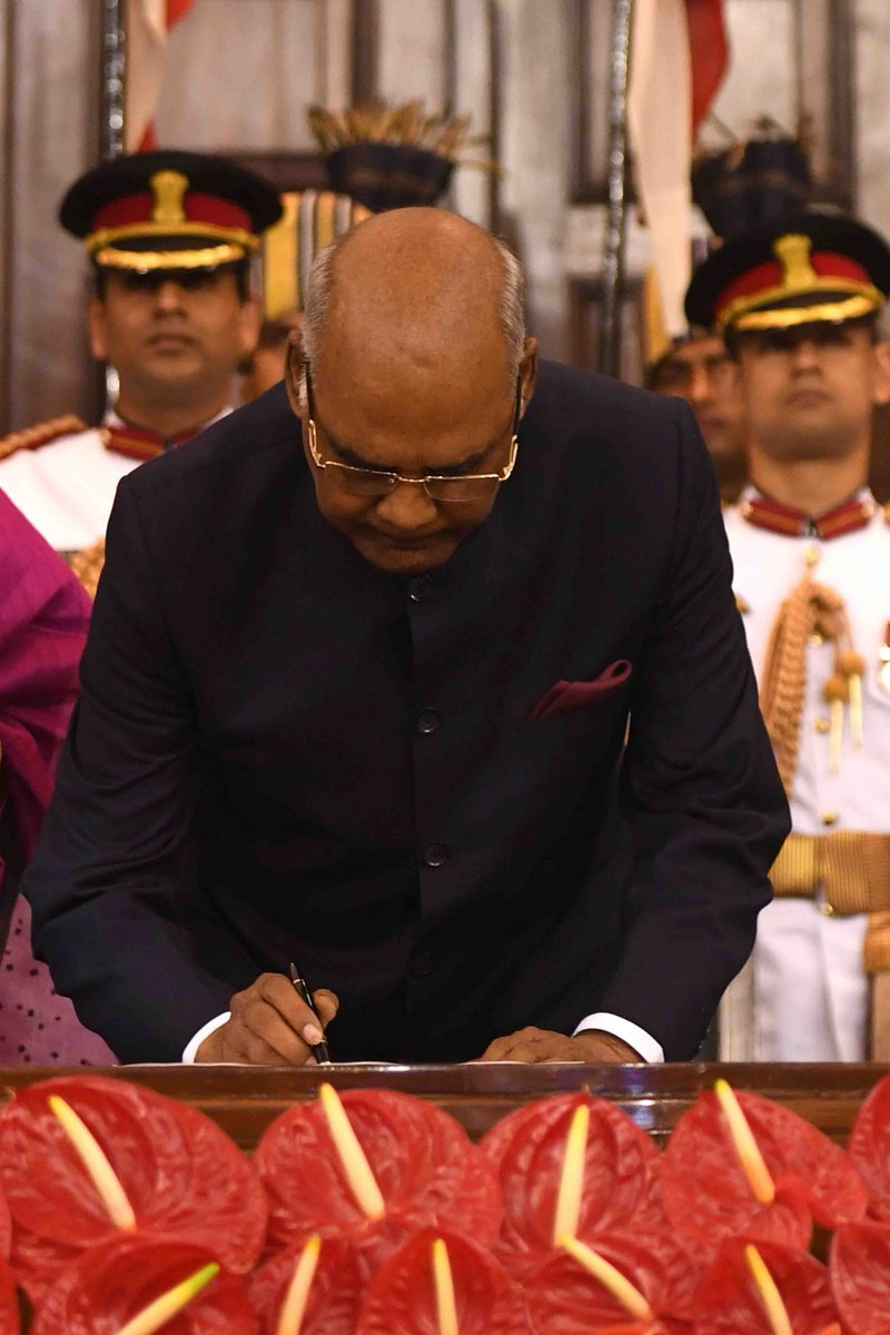 Newly appointed President Ram Nath Kovind after oath taking ceremony