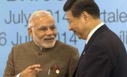 PM Narendra Modi with Chinese President Xi Jinping. (File