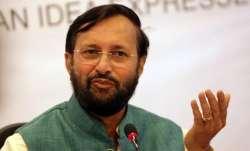 Union HRD Minister Prakash Javadekar - File pic