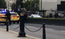 UK: Car crashes into barriers outside Houses of Parliament;