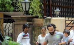 Bollywood actor Saif Ali Khan was spotted with his son