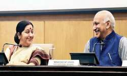 MJ Akbar and Sushma Swaraj