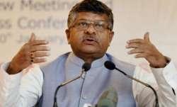 Union Minister Ravi Shankar Prasad