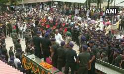Last rites of Army Major Ketan Sharma being performed at