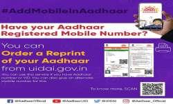 You can easily order for an Aadhaar card reprint through