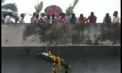 Shocking Video: Body of 46-year-old Dalit lowered from
