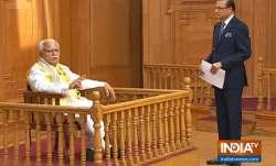 Manohar Lal Khattar in Aap Ki Adalat: Haryana CM's love of