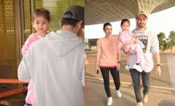 Baby Inaaya was spotted with mum Soha Ali Khan and dad