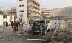 Latest World News Afghanistan Kabul Bomb Blast pd15 Area Casualties,7 killed, 7 injured in a car bom