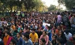 JNU students boycott exams over fee hike issue
