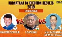 Karnataka by-election 2019 Results Ranibennur: Congress'