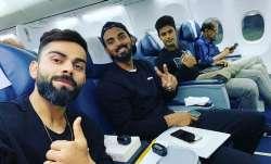 1st T20I: Virat Kohli departs for Hyderabad with KL Rahul and Shivam Dube for Windies opener