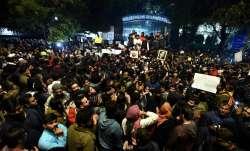 MANUU students protestagainst police action at Jamia Millia