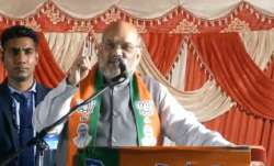 Amit Shah addressing a rally in Delhi on Sunday