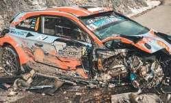 Miraculous escape: Car falls off mountain at 185 kmph, driver survives